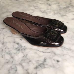 Bernardo  patent leather mules